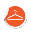 clothers simbol orange tag vector image vector image