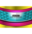 colorful curve background vector image vector image