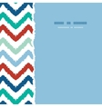 colorful ikat chevron frame square torn seamless vector image vector image