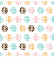 colorful modern geometric circle seamless texture vector image vector image