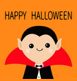 count dracula head wearing black and red cape vector image vector image