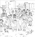 Crowd of Happy People vector image vector image