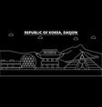 daejon silhouette skyline south korea - daejon vector image vector image