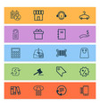 e-commerce icons set with hanger sales day vector image vector image
