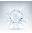 editable elementary image water sun vector image