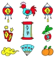 Element Chinese New Year doodles vector image vector image