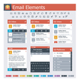 Email elements vector image vector image