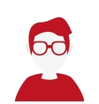 faceless woman with glasses portrait icon vector image