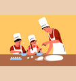 family education fatherhood childhood cooking vector image