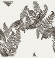 fern herbs tropical forest plant leaves seamless vector image vector image