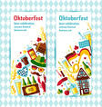 Flat design banners set with oktoberfest vector image