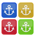 four square color icons anchor vector image
