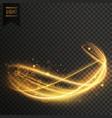 golden light effect background vector image