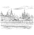 hand drawing moscow-4 vector image vector image