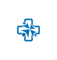 healthcare and community logo design concept vector image