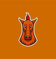 horse mascot head design element sport emblem vector image vector image