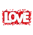 Love paper style on red heart confetti vector image vector image