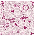 love - seamless pattern vector image vector image