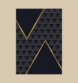 luxury premium menu designfinancial annual report vector image