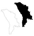 map moldova isolated black vector image vector image