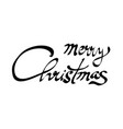 merry christmas hand lettering calligraphy vector image vector image
