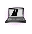 Modern laptop screen display comics icon vector image vector image