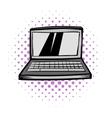 Modern laptop screen display comics icon vector image