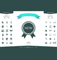 new offer icon with ribbons vector image