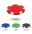 Poker chip vector image vector image