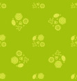 pollen beekeeping seamless pattern in a linear vector image