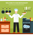 Professional Cooking Design Composition vector image vector image