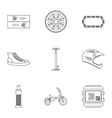 Race bike icons set outline style vector image vector image