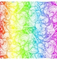 Rainbow colored doodle style ornament vector image vector image