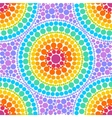 Rainbow colors concentric circles in dot art style vector image vector image