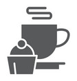 restaurant glyph icon food and drink cup and vector image vector image