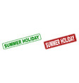 scratched summer holiday rubber prints with vector image vector image