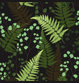 seamless floral pattern with fern leaves vector image vector image
