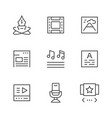 set line icons of web content vector image vector image