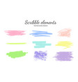 set of scribble smears pastel 2 vector image vector image