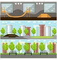 set of skate park banners Outdoor and vector image vector image