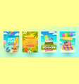 set of summer sale promotion banners vector image vector image