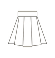Skirt icon vector image vector image
