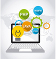 software development vector image vector image