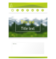 Template of design of brochure booklet web of page vector image vector image
