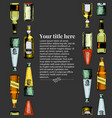 template with different beer bottles vector image vector image