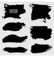 textured black ink smooth strokes set on vector image