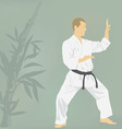 The the man is engaged in karate vector image vector image