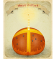 vintage retro easter card vector image