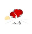 walking hearts vector image