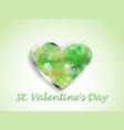 watercolor heart on a color background vector image